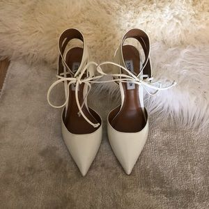 PERFECT CONDITION white Steve Madden heels